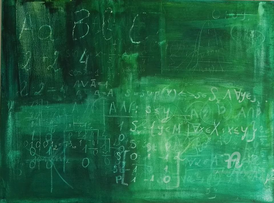 Anastasia Vasilyeva - Old school blackboard with memories