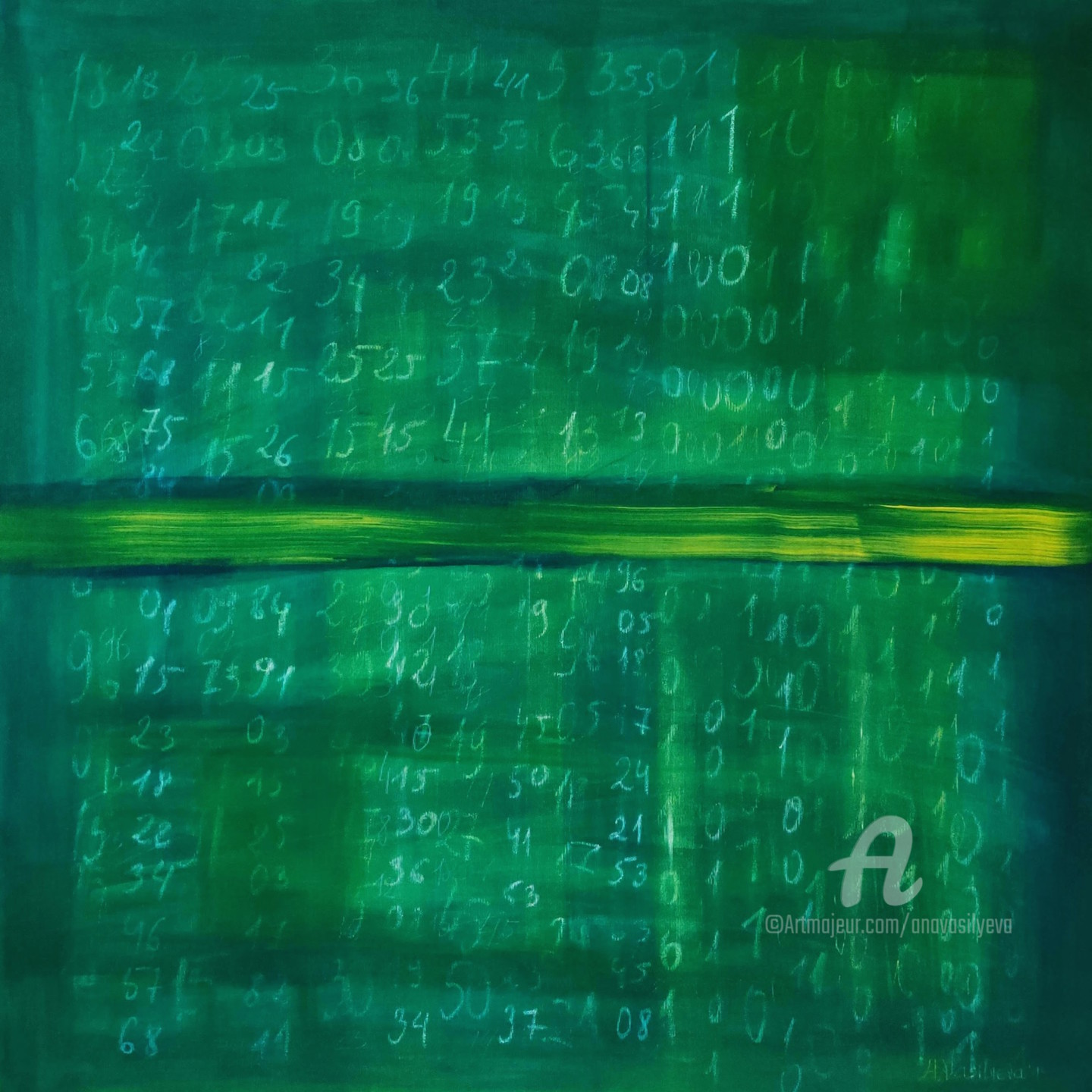 Anastasia Vasilyeva - Green field with numbers