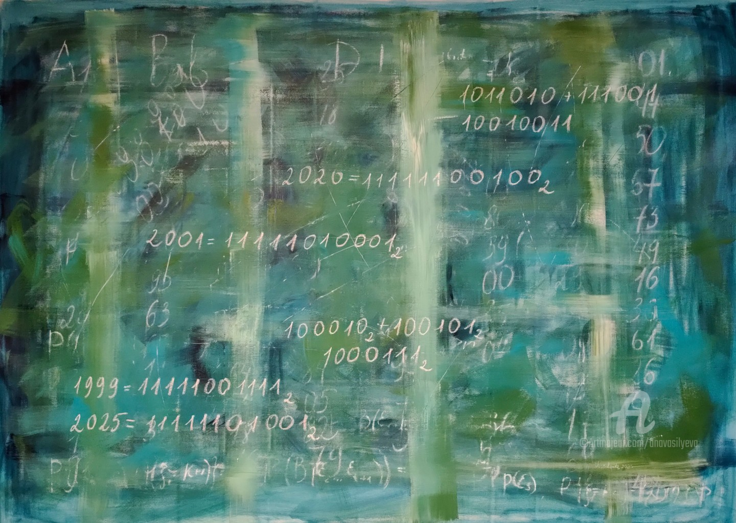 Anastasia Vasilyeva - The world of numbers -XL canvas from Science art collection