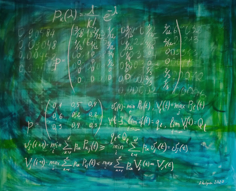 Anastasia Vasilyeva - Poisson distribution -XL canvas, Science art