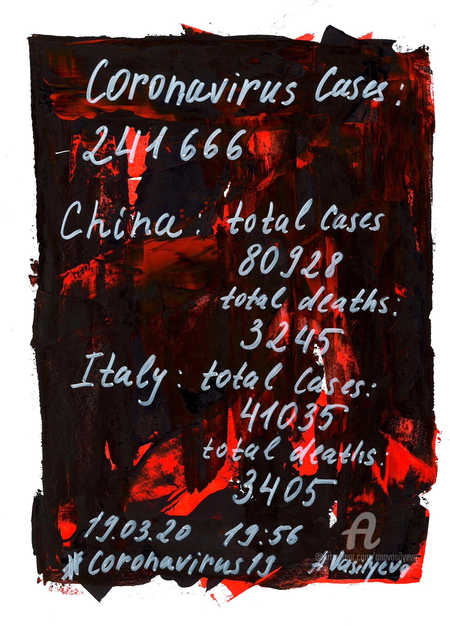 Anastasia Vasilyeva - 19.03.2020 - Terrifying statistics. From COVID-19 Art.