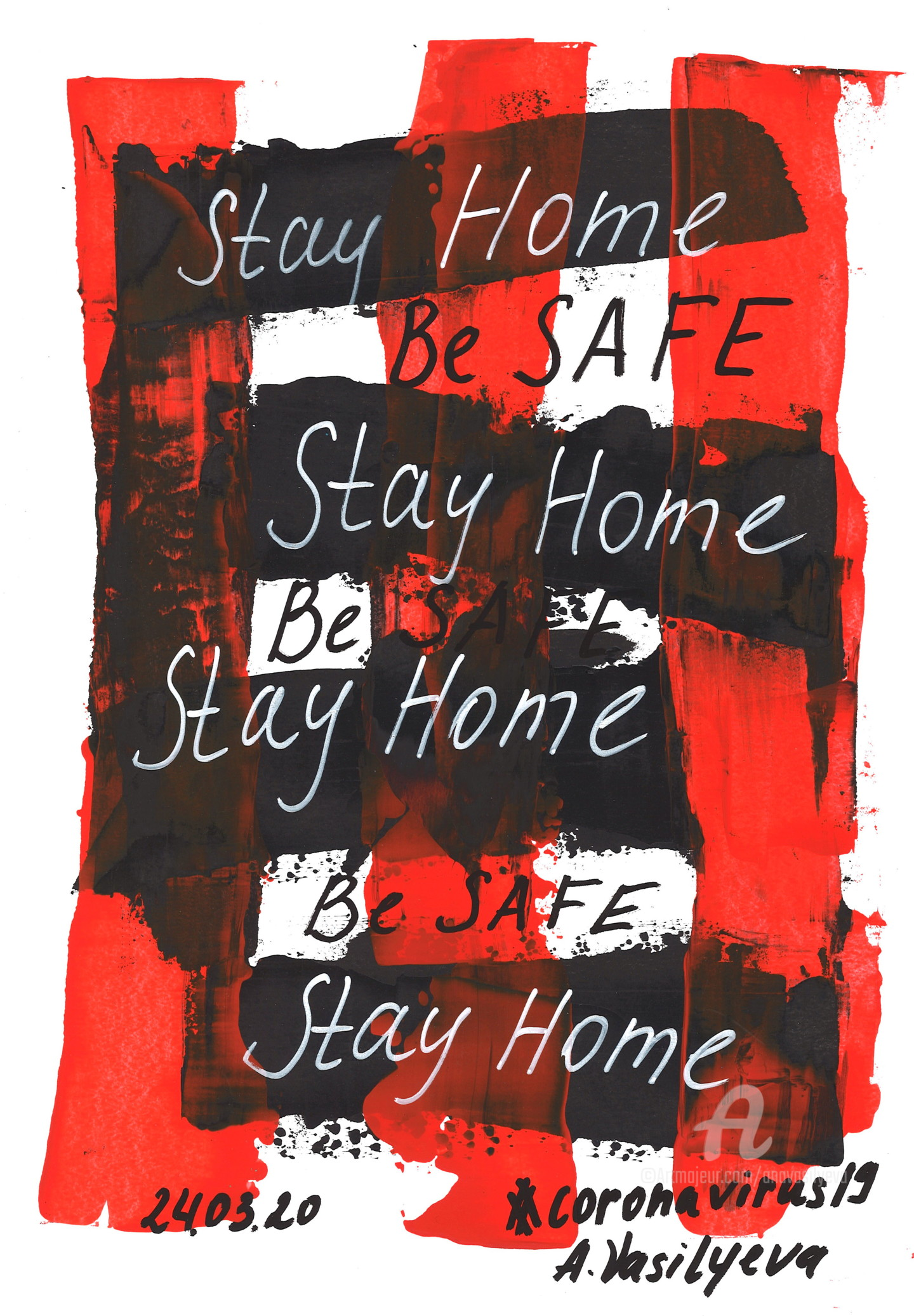 Anastasia Vasilyeva - 24.03.2020 - Stay Home, Be Safe. COVID-19 Documentary art.