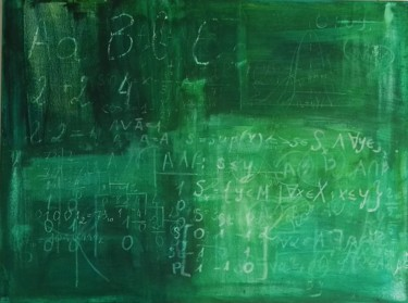 Old school blackboard with memories