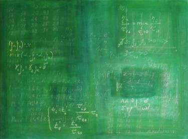 Blackboard with advanced maths formulas