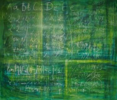 Old schoolboard -XL canvas in conceptual Science art