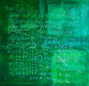 Green schoolboard with math formulas