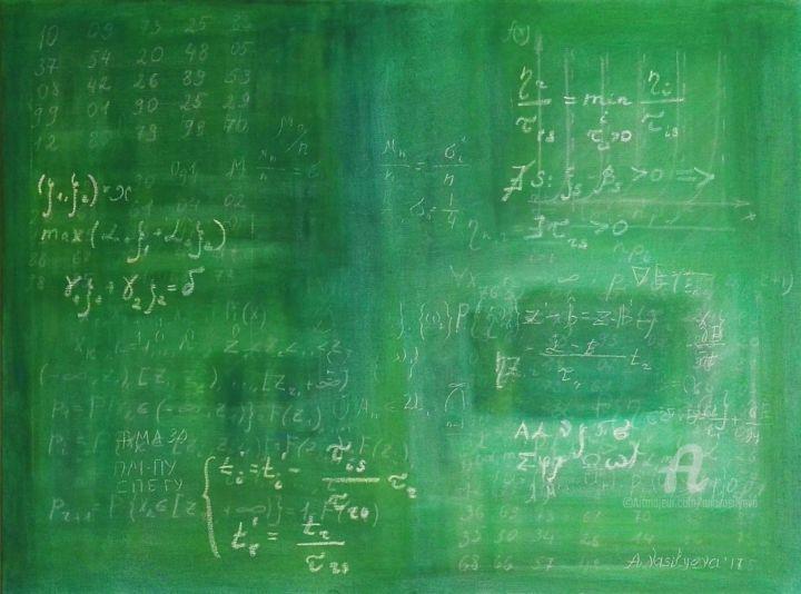 Anastasia Vasilyeva - Blackboard with advanced maths formulas